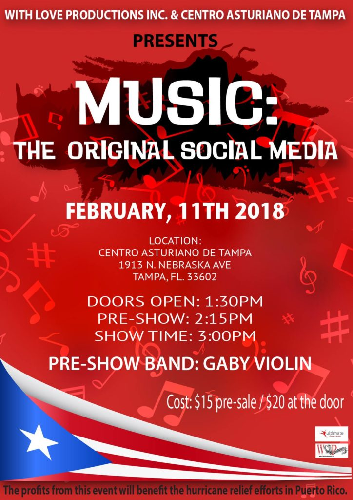 With Love Productions Inc. Presents - Music: The Original Social Media